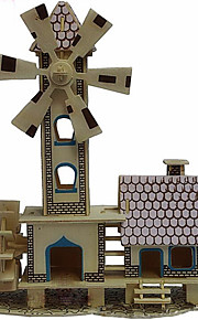 drewniane chaty dziecinada 3d puzzle zabawki do majsterkowania