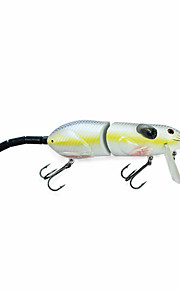 "Mmlong 10"" Fishing Lure Artificial Crankbait Lifelike Swimbait 3 Sections Slow Sinking Hard Bait Trackle Rat-1"