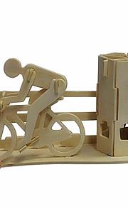 puslespil 3D-puslespil / Træpuslespil Byggesten DIY legetøj Cykel Træ Guld Model- og byggelegetøj