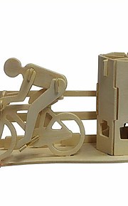 moto pote de madeira escova de puzzles 3D DIY brinquedos