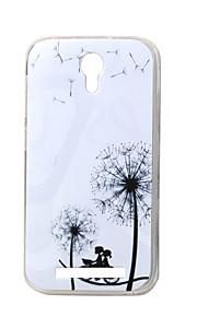 Diente de león romántica nueva TPU suave cubierta de la caja de valencia Doogee 2 Y100 teléfonos móviles fundas estuches