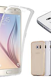 indietro 2 pezzi super flessibili tocco pieno della copertura della cassa dello schermo morbida grado di TPU anteriore + per Galaxy S6 /