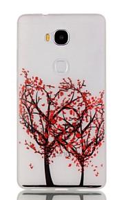 estuche blando noche luminosa flor roja árbol de TPU para Huawei 5x de honor