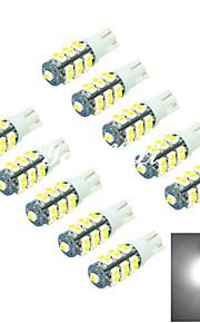 youoklight® 10pcs T10 1W 25x5050smd 40lm 6000K hvitt lys ledet bil lampe (st 12v /)