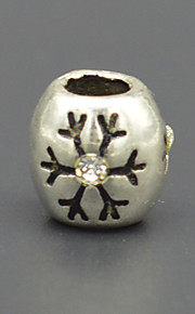 DIY beaded armbånd halskæde tilbehør vakuum plating + udtværing mode med zircon lampwork perler hac0052 sne