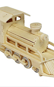 The Locomotive Wood 3D Puzzles Diy Toys