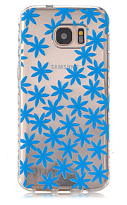 Blue Leaves Pattern Slip TPU Phone Case For Samsung Galaxy S7/S7 edge