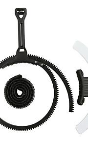 fotga® efocus justerbar zoom follow fokus gear bælte ring håndtag håndtag + hvid mark board sort blå grå til kamera