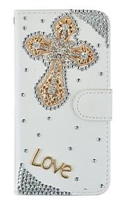 아이폰 6 / 6S / 6plus / 6splus에 대한 매우 얇은 수제 블링 크리스탈 다이아몬드 합성 가죽 지갑 케이스 플립