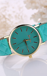 pulseira de couro branco caso de pulso de quartzo analógico presente relógio das mulheres