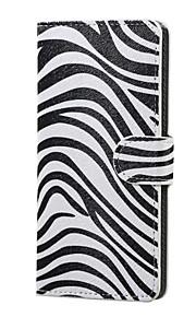 K5 X220을 LG 얼룩말 패턴 자기 PU 가죽 지갑 플립 스탠드 케이스 커버