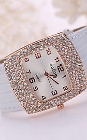 grande caso de cristal pulseira de couro de ouro vestido de pulso de moda senhora assistir jóias para festa de casamento