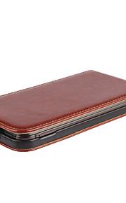 venta caliente 100% cuero de la PU del cuero del tirón hacia arriba y hacia abajo para el caso de HTC uno M9 (colores surtidos)
