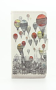 Hot Air Balloon Painted PU Phone Case for Huawei Ascend P9 Lite