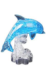 puslespil 3D-puslespil / Krystalpuslespil Byggesten DIY legetøj Delfin ABS Brun Model- og byggelegetøj