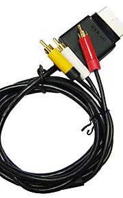 av tv rca audio-video optische kabel snoer voor Microsoft Xbox 360 Slim console