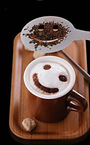 12pcs making fancy kaffe plast trykning model minimalistisk design støvning pad