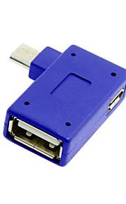 cwxuan® 90 gradi Micro USB 2.0 OTG adattatore host con alimentazione USB per tablet cellulare