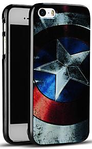 Captain America skjold myk beskyttende bakdekselet iphone case for iphone se / iphone 5s / 5
