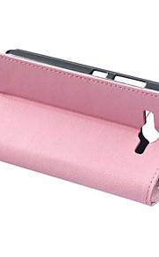 couvercle rabattable style portefeuille avec fente pour carte Huawei Ascend y520 cas fashion cas cass grain motif de texture