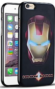 unikt preget iron man beskyttende bakdekselet myk iphone case for iphone 6s / iphone 6