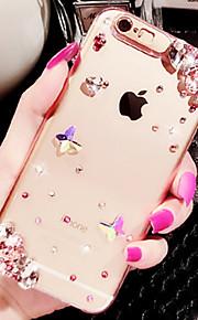 luksus diamante plast bak deksel til iphone 6 / iphone 6 pluss