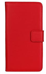 caja de cuerpo completo de cuero genuino color sólido con el soporte y la tarjeta de la ranura para HTC uno M9 más (colores surtidos)