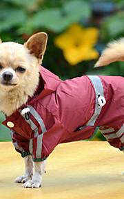 犬用品 レインコート レッド / グリーン / イエロー 冬 / 夏 / 春/秋 ゼブラプリント 防水 / ホリデー-Lovoyager
