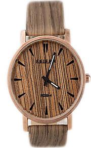 unisex relógios de madeira relógios do relógio das mulheres do vintage Sprot quartzo relógio dos homens analógicos, ideia
