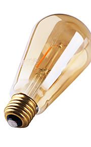 1 stk. GMY E26/E27 2W 2 COB ≥180 lm Varm hvit ST64 edison Vintage LED-glødepærer AC 220-240 V