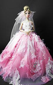Barbie Doll Wedding Dress with Veil