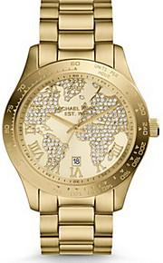 Genebra mulheres relógio tira, assistir mapa do mundo, Michael kores relógio, relógio de ouro, femme montre, relógio de pulso, caixa de