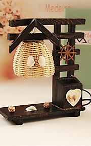 kreativ tre hus med penn container dekorasjon bordlampe soverom lampe gave til gutt
