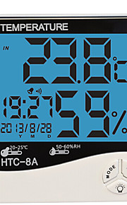 fuktighet Mete lcd digital htc-8 temperatur instrumenter termometer hygrometer temperatur og fuktighetsmåler klokke