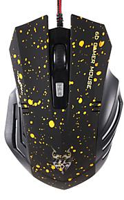 JITE 6d Gaming-Maus 6 Tasten verdrahtet Beleuchtung USB-Maus rot, gelb, blau, grün, schwarz