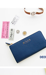 Travel WalletForTravel Storage PU Leather Blue / Pink / Orange / Rose 19.2*9.5*2.5