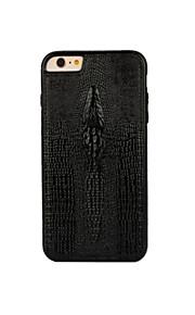 téléphone de luxe étui en cuir accessoires de couverture de cas de cas crocodile motif de tête pour iphone 6 / 6s / 6plus / 6s, plus