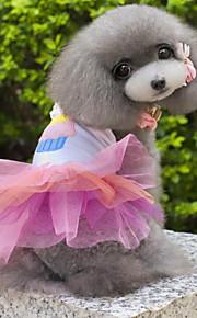 Cães Vestidos Rosa Verão / Primavera/Outono Clássico Casamento / S. Valentim / Fashion / Natal-Lovoyager