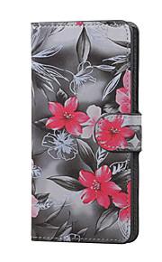 붉은 꽃 자기 PU 가죽 지갑 플립 K5 X220을 LG에 대한 케이스 커버 스탠드