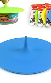 ingeblikt huisdier siliconen cover hoed om voedsel te dekken vorm siliconen deksel hondenvoer te dekken
