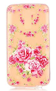 розовые розы шаблон тиснением чехол для LG K7 / K10