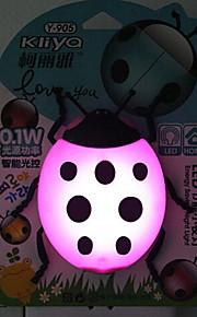 kreative fargeskiftende tegneserie dame bille sensor knyttet til en natt lys (assortert farge)