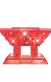 3D cristal diy blocos prédio pequeno pavilhão quebra-cabeça crianças brinquedos educativos pequena ornamento criativo sem luz