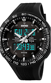 Men's   Watch/ Calendar / Chronograph / Dual Time Zones / Alarm / Noctilucent / Analog-Digital Wrist watch