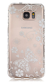 White Butterfly Pattern Slip TPU Phone Case For Samsung Galaxy S7/S7 edge