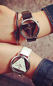 jis amante mostrador transparente triângulo padrão de quartzo relógio