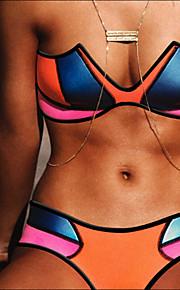 The New Neoprene Neoprene Splicing Multicolor Bikini Swimwear Sexy Bikini