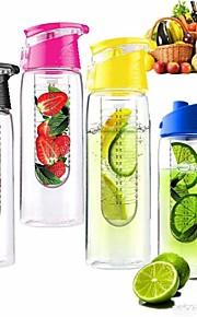 800ml cykling sport frukt infusion infusions vatten citron kopp juice cykel hälsa miljövänlig (slumpvis färg)