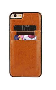 tappning galen häst mönster flår PU läderfodral slim-kortplats plånbok väskor för iphone6 / 6s / 6 plus / 6s plus