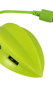 USB 2.0 4-Port / Schnittstelle USB-Hub schöne Frucht Karambole 7 * 2 * 2